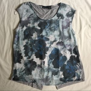 DKNY JEANS watercolor floral SUMMER top XL